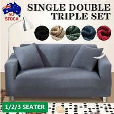 1/2/3 Seater Couch Cover Sofa Covers Fleece Recliner Lounge Protector Slipcovers