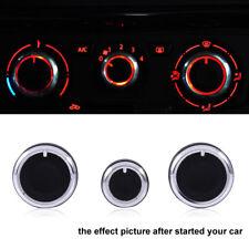 A/C Air Condition Panel Control Switch Knob For VW Passat Golf Mk4 Black 3pcs