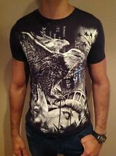 ARMANI EXCHANGE T SHIRT BODY TIGHT SLIM FIT DARK GRAY SMALL EXCLUSIVE