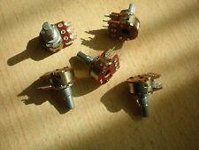 Potentiometer   10k lin  Dual Gand  15mm  D shaft 6mm    5 pieces    Z473