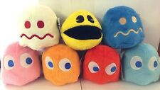 SET of 7 Pac-Man Plush 4 '' . Licensed. Brand New Pac-Man.NEW. Collectible