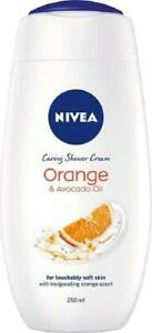 NIVEA Indulgent Moisture Orange Shower Cream, Pack of 6 (6 x 250 ml), Moisturisi