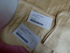Pratesi mini sham PAIR gold chain pillow case NEW angel skin cotton jacquard set