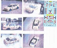 Decals 1/43e Subaru Impreza WRX Valencia Luis Climent Terre Requena 1999