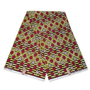 "African fabric LIME GREEN wax fabric ""SHELLS"" Ankara Kitenge wax print cloth"