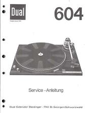 Dual Service Manual für 604