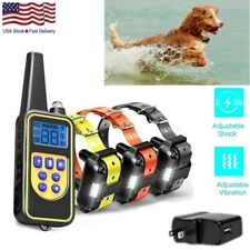 2600 Ft Dog Training Collar Rechargeable Remote Shock Pet Waterproof Trainer Us