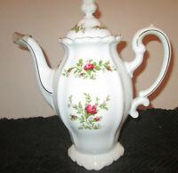 Johann Haviland Traditions Fine China Moss Rose 6 Cup Coffee Pot