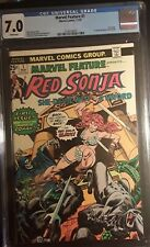 MARVEL FEATURE #I CGC 7.0 WHITE PAGES! 1ST RED SONJA! ORIGINAL OWNER! GORGEOUS!