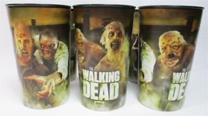 Lot of 3 AMC The Walking Dead 20oz Cups Tumblers Zombie Walkers Horror Hallmark