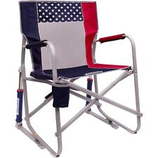 GCI Outdoor Freedom Rocker Chair USA Flag Red White and Blue Folding Camping