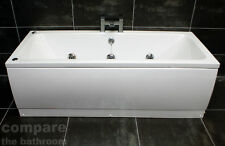 1800 x 800mm Double Ended Square Bath + 6 Jet  Whirlpool Spa - Jacuzzi Type