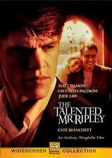 Used Dvd- The Talented Mr Ripley - Matt Damon, Gwyneth Paltrow, Jude Law