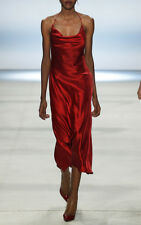 Cushnie et Ochs Runway Double Charmeuse Halter Bow Dress