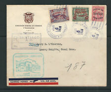 PANAMA 1938 REGISTERED FDC of OPENING of NORMAL SCHOOL at SANTIAGO