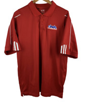 Adidas Golf ClimaLite Men's Sz L Red & White Polo CINTAS Uniform Embroidered