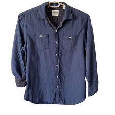 Tommy Bahama Mens L Sunset Button Shirt L/S 2 Layer Thin Cotton Flip Cuff $145