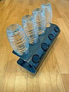 SodaNature | 4er Abtropfhalter/ Flaschenhalter Anthrazit für SodaStream- U-Shape