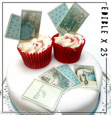 25 Peter Rabbit Edible Beatrix Potter cards Cupcake Toppers | Cake | decorations