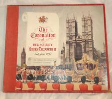 THE CORONATION QUEEN ELIZABETH Rare UK OFFICIAL RECORDINGS His Masters Voice HMV
