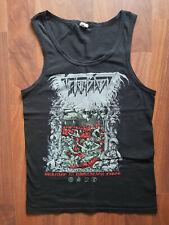 "TEITANBLOOD – ""Burning in Damnation Fires'' TANK TOP size S black/death metal"