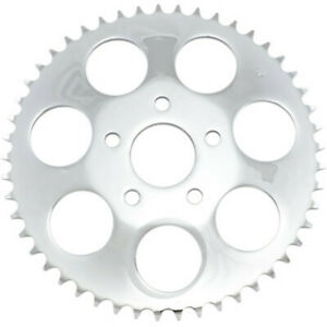 "Drag Specialties Chrome 46 Tooth .23"" Offset Rear Wheel Sprocket Harley Big Twin"
