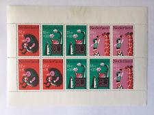 Feuille timbres** Nederland YT NL BF6, NVP:NL V2233/42. Pays bas 1967. Hérisson