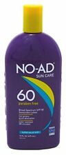 2 Pack NO-AD Sunscreen Sunblock Lotion SPF 60, Non-Greasy, 16 Oz Each
