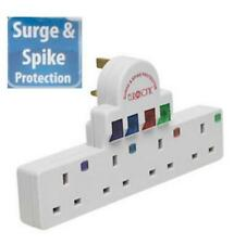4 WAY PLUG IN WALL ADAPTOR SURGE & SPIKE PROTECTED UK MAINS MERCURY 429.819