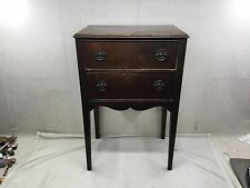 Antique Sewing Cabinet Side Table Swinging Thread Drawer