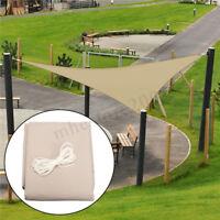 3M Sun Shade Triangle Waterproof Canopy Patio Awning Garden UV Shelter   US