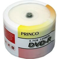 200 8X PRINCO White Top Blank DVD-R DVDR Media Disc 4.7GB
