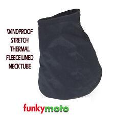 THERMAL BASE NECK TUBE WINDPROOF STRETCH COMFORT FLEECE LINED NECKWARMER STOPPER
