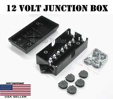 12 Volt Junction box 7 studs weather proof 4 RV Trailer or Camper