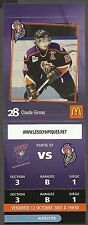 2007-2008 Gatineau Olympiques Claude Giroux Pre-Rookie Card (with Game Stub)