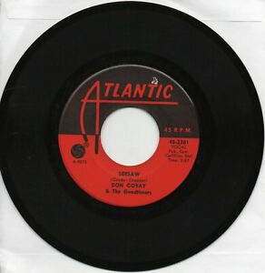 Don  Covay     Seesaw / I Never Get Enough Of Your Love on Atlantic