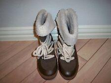 Bumper Dark Brown Womens Short Boots.  8.5 Style NAKIA02