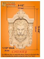 Hand carved Lion Head Applique