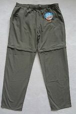 Columbia Fishing Pants Convertible Mens Size 1X Green Omni-Shade UPF 50