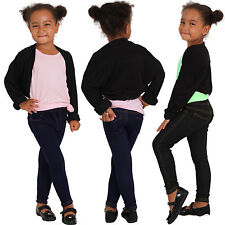 Kinder Thermo Teddy Jeans Hose Strass Stein uni Leggings Jeggings warm 02
