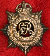 Royal Army Service Corps (Officers') King's Crown collar badge GV *[12455]