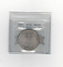 **1972J**Germany, Munich Olympics10 Mark, Coin Mart Graded **MS-63**