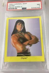 Chyna 1999 Cardinal Wwf Rookie Trivia Series 2 Psa 7 Pop 2