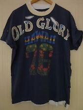 Old Glory Indian Denim Preservation Hawaii Surf Blue Graphic T-Shirt Top XL 48