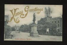 Glos Gloucestershire BRISTOL Colston Ave Xmas overprint 1905 PPC