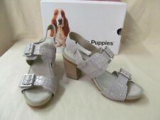 Hush Puppies Women's 7.5 M Leonie Mariska Metallic Croco Suede Strappy Sandals