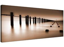 Brown Large Canvas Picture of Jetty for Dining Room 1088