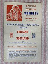 More details for rare england v scotland war international 17/1/1942 no writing free p&p