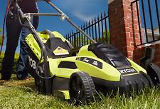 Ryobi Lawn Mower Walk Push Behind Electric Corded Grass Yard 11 Amp Lightweight