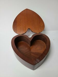 Heart Shaped Wood Box Indiana Jewelry Boxes For Sale Ebay